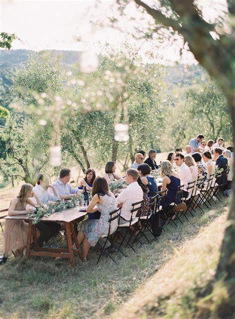 elegant outdoor tuscany wedding  wed
