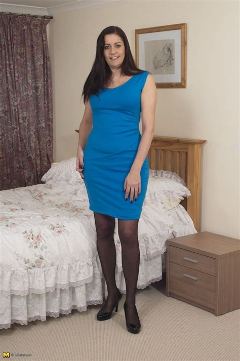 Horny Uk Housewife Strips Down To Satin Lingerie And Black