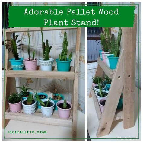 pallet wood indoor garden plant stand  pallets