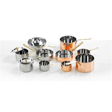 mini copper sauce pan   mm  lid
