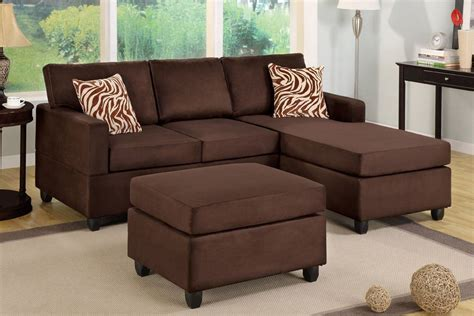 ottoman with matching pillows chocolate brown sectional couch with free matching ottoman