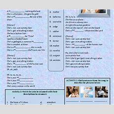 Song Worksheet Jobs