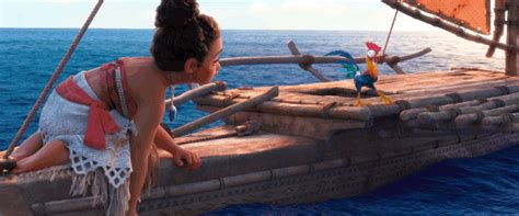 Moana Boat Life Size by The Rock Disney Gif By Moana Find Share On Giphy