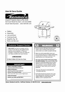 Kenmore Gas Grill 119 16312800 User Guide
