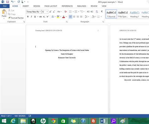 Title Page Template Word 2013 by Formatting Apa Style In Microsoft Word 2013 9 Steps