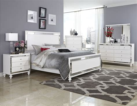 cal king bedroom sets furniture 4 pc homelegance alonza beveled mirror frame bedroom set