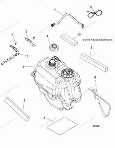 Polaris Atv 2015 Oem Parts Diagram For Body  Fuel Tank Asm