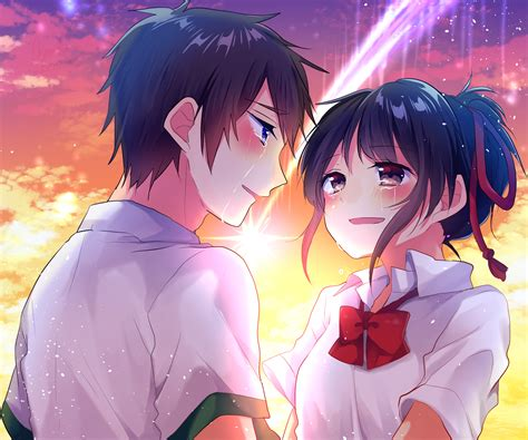Anime Your Name Kimi No Na Wa Link 2016 Random Thoughts Kimi No Na Wa Your Name Image 2036624 Zerochan