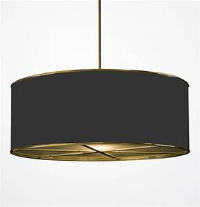 Hanging drum shade light with frosted glass diffusers hs