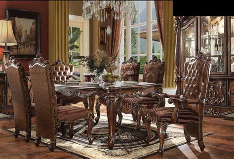 acme furniture versailles cherry pc dining room set