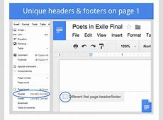 G Suite Updates Blog Customizable headers and footers
