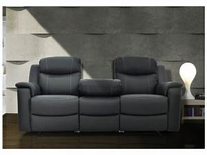 canapes relax evasion en cuir gris ou blanc ivoire With canape cuir avec relax