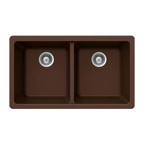 kitchen sink composite houzer quartztone undermount composite granite 33 in 2637