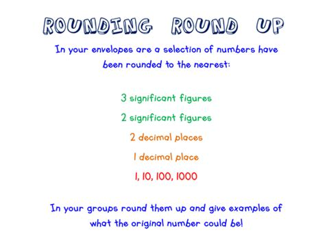 Rounding Decimal Places Significant Figures By Roundup  Teaching Resources Tes