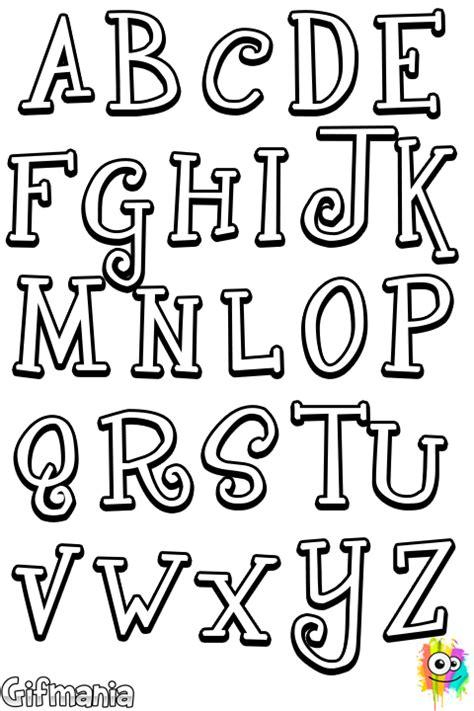 dibujo de abecedario divertido para colorear