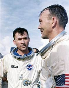 Gemini 10 astronauts John Young and Michael Collins, 1965 ...
