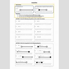 Number Line Inequalities Worksheet With Answer Sheet By Mq1982  Teaching Resources Tes