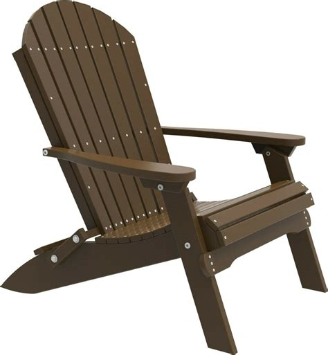 Outdoor Lawn Chairs by Poly Furniture Wood Folding Adirondack Chair Chestnut