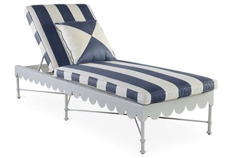 chaise navy awning stripe adjustable chaise navy pool