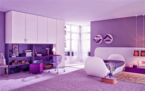 purple bedroom ideas for teenagers ديكورات غرف اطفال 2018 19551 | purple bedroom ideas for girls room purple walls and white furniture