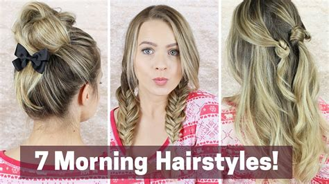 quick morning hairstyles youtube