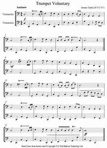 Clarke Trumpet Voluntary Sheet Music For Cello Duet