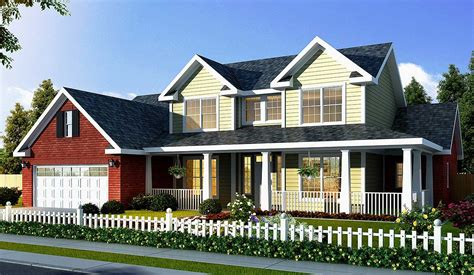 Farmhouse House Plan With Optional Game Room 40866wm