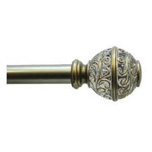 allen roth brass metal single curtain rod lowe s canada