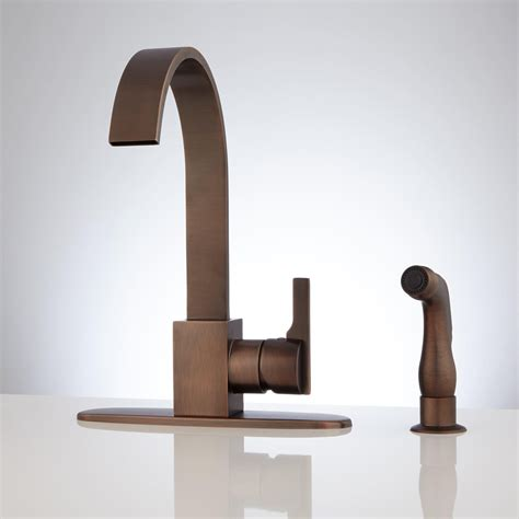 gooseneck kitchen faucet aster kitchen faucet with side spray kitchen