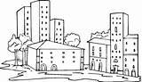 Coloring Pages Neighborhood Buildings Apartment Para Freecoloringpagefun Printable Ciudades Print Skyscrapers Dibujos Colouring Community Sheets Buscar Imprimir Choose Con Google sketch template