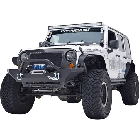 jeep jk rock crawler 07 16 jeep wrangler jk heavy duty rock crawler front bumper