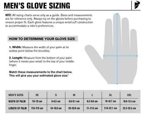 how to size motocross motorcycle glove sizing chart allmoto online
