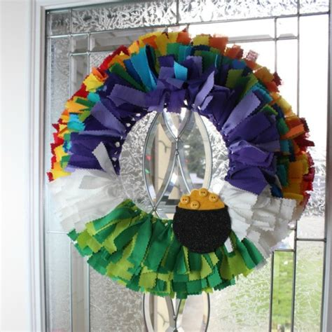 st patricks day wreath ideas thriftyfun