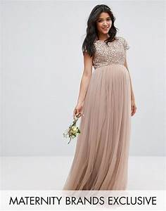 Maternity wedding dress for bridesmaid or guest maya for Maternity maxi dress for wedding