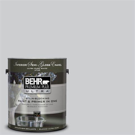 behr premium plus ultra 1 gal 770e 2 silver screen color gloss enamel interior paint