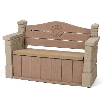 step2 outdoor storage patio bench 5433kr the home depot