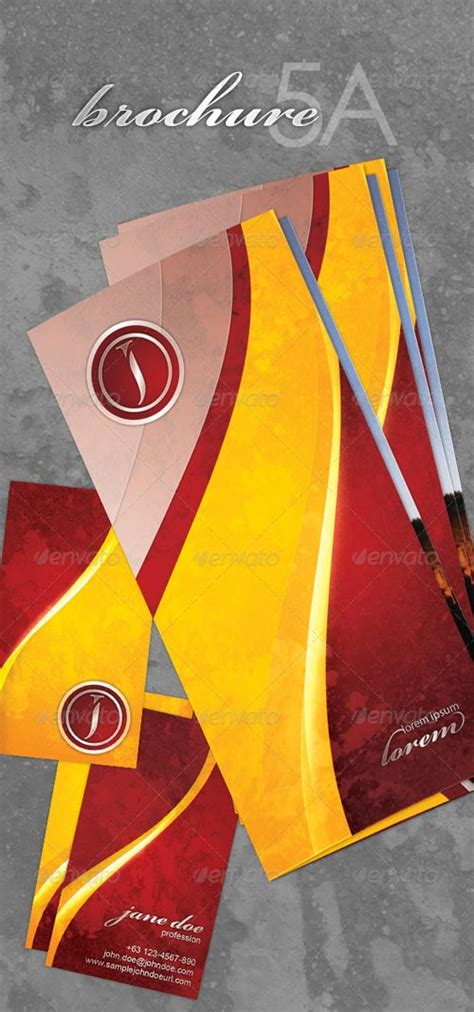 Graphicriver Brochure Tri Fold A4 Series 1 Graphicriver Brochure Series 5a And 5b