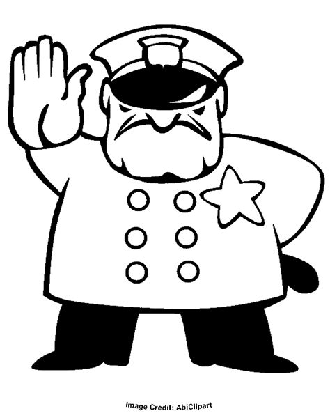 11589 policeman clipart black and white badge 545230