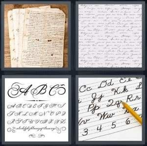 pics  word answer  note writing script letters
