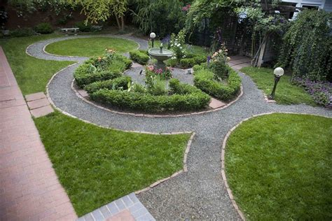 Backyard Landscape Designs by The Knot Garden Blending Geometric Design And Nature