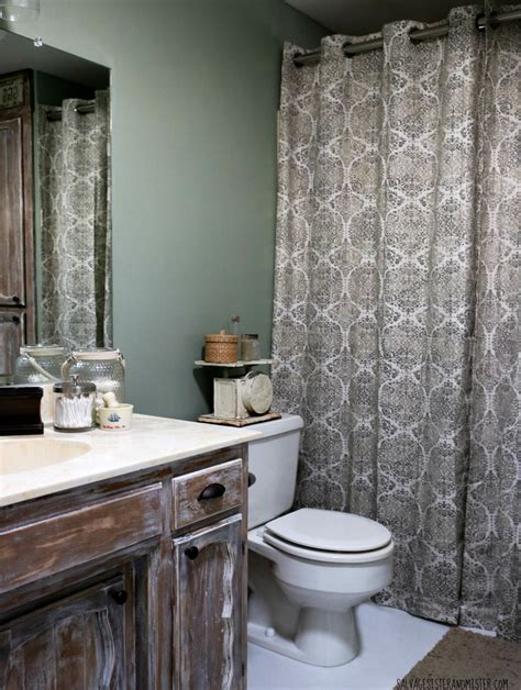 Truth in Makeovering   Low Cost Rustic Bathroom Makeover