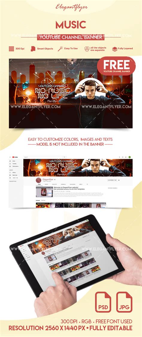youtube channel art templates  premium