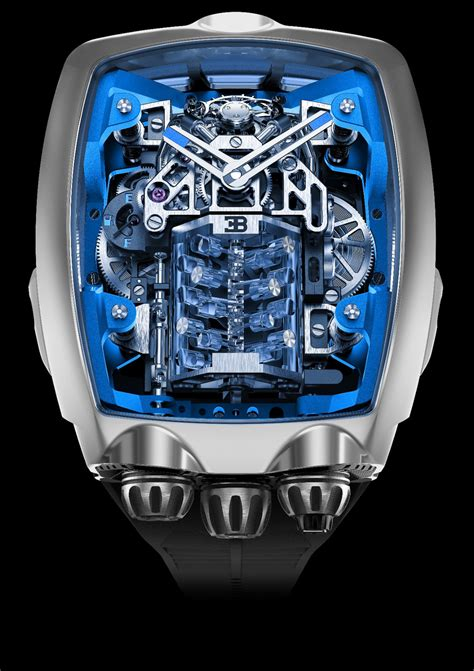 Last year, bugatti announced the limited twin turbo furious. This Bugatti Watch Features An Actual Working W16 Engine ...