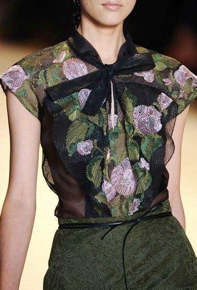 carolina herrera blouse couture to comfortable v