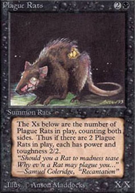 rat deck mtg modern plague rats the magic the gathering wiki magic the
