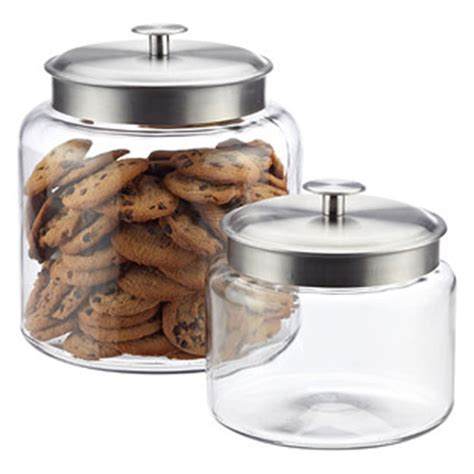 storage jars for kitchen anchor hocking montana glass canisters reviews the 5879