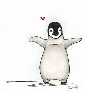 pudgy baby penguin love by mangie on DeviantArt