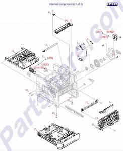 Rm1-4527-000cn Hp Paper Feed Roller Assembl