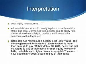 accounting ratios and interpretation, Pepsi vs coca cola,