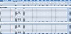 worksheet yearly budget worksheet hunterhq free With annual household budget template